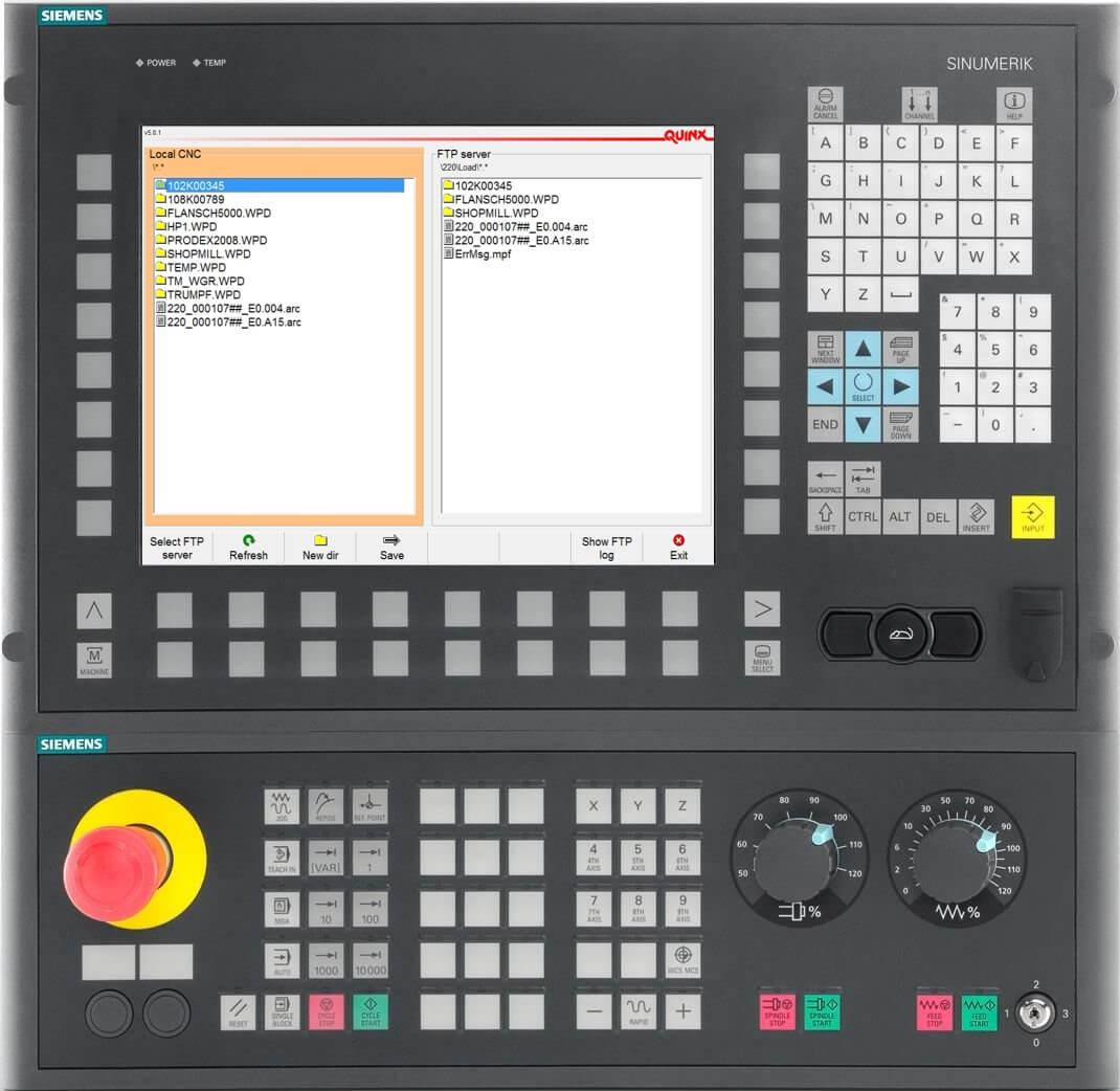 Quinx FTP Client auf Siemens 840D
